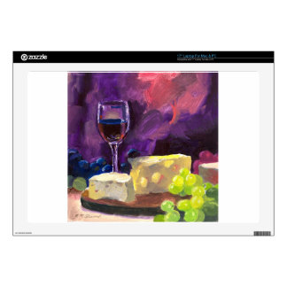 "Wine and Cheese Skins For 17"" Laptops"
