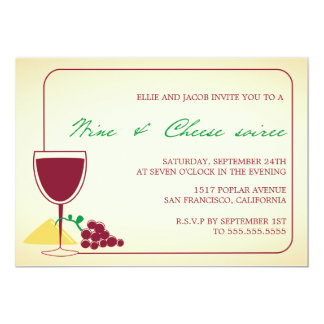 Wine and Cheese Soiree-party invitations