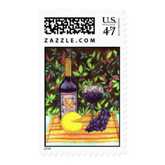 Wine and Cheese Stamps