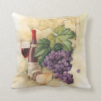 Wine and Cheese Throw Pillow