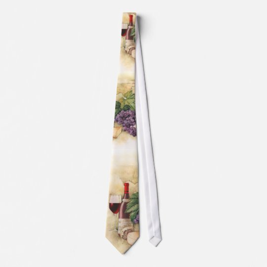 Wine and Cheese Tie