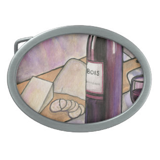 Wine and Cheese Tonight Belt Buckle