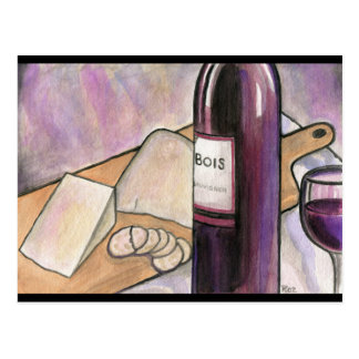 Wine and Cheese Tonight Postcard