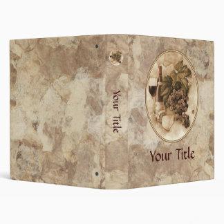 Wine and Cheese Vinyl Binder