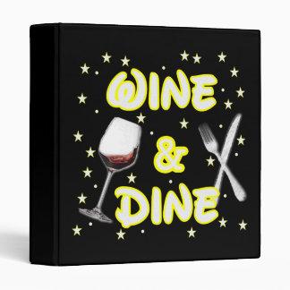 Wine and Dine Around The World Binder