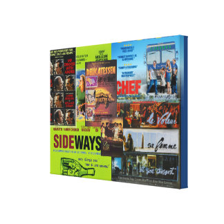 Wine and Dine Cinema Canvas Print