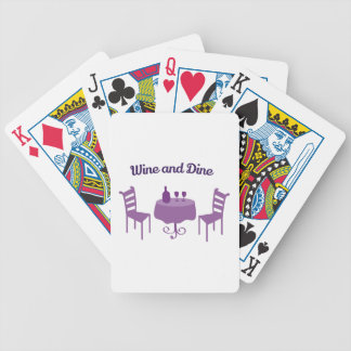 Wine And Dine Bicycle Playing Cards