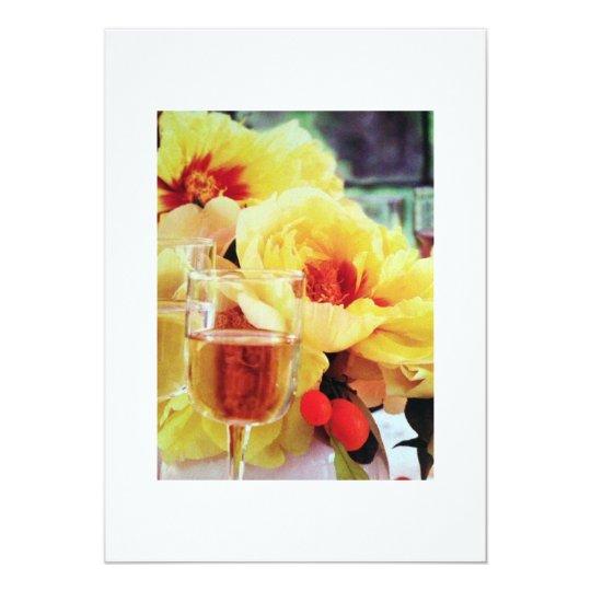 WINE AND FLOWERS INVITATION