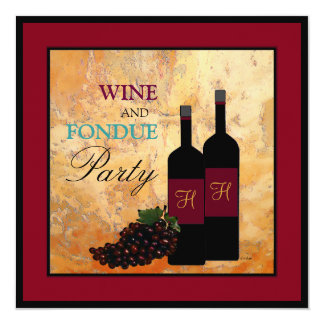 Wine and Fondue Party Card