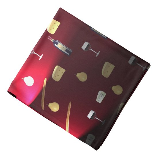 Wine And Food Cranberry Lights Bandana