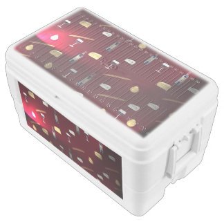 Wine and Food Cranberry Lights Chest Cooler