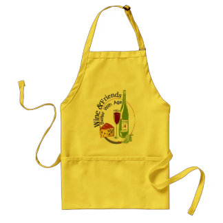 Wine and Friends Adult Apron