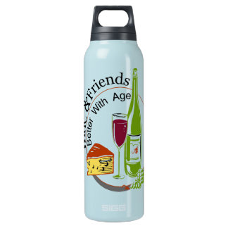 Wine and Friends Insulated Water Bottle