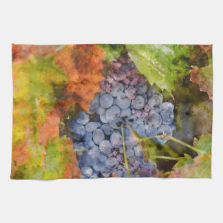 wine and grape kitchen decor hand towel
