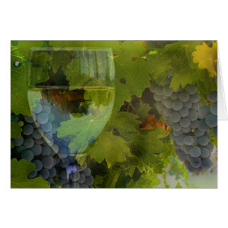Wine and Grape thank you Greeting Card