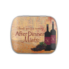 Wine and Grapes-After Dinner Mints Jelly Belly Candy Tin at Zazzle