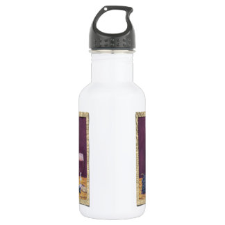 Wine and Grapes Art 18oz Water Bottle