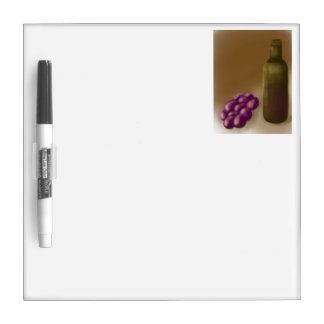 Wine and Grapes Dry-Erase Board