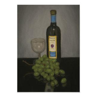 Wine and grapes invitation