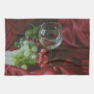 Wine and Grapes Kitchen Towel