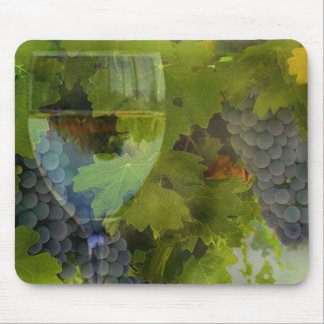 Wine and Grapes Mouse Pad