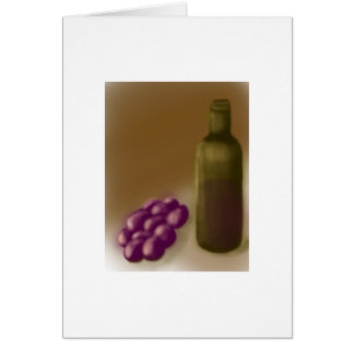 Wine and Grapes Notecard