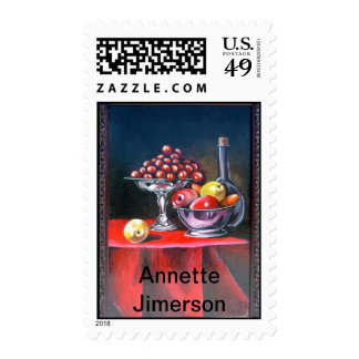 Wine and Grapes Postage Stamps