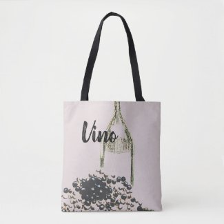Wine and Grapes Viino Vineyard Tote Bag