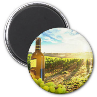 Wine and Grapes Vineyard Scene Magnet