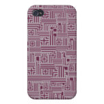 Wine and Gray iPhone 4 Case