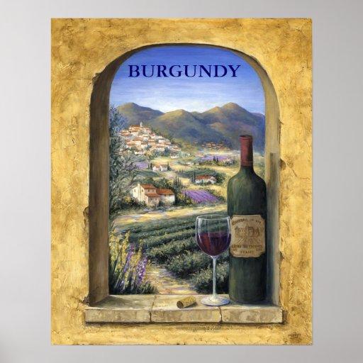 Wine And Lavender Print