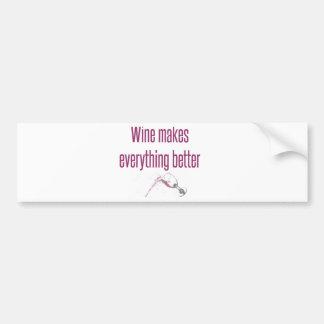 Wine and Life Bumper Sticker