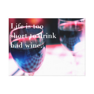 Wine and Life Canvas Print