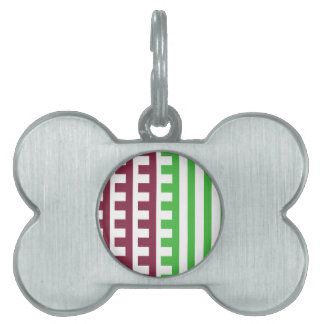 Wine and Lime Combs Tooth Pet ID Tag