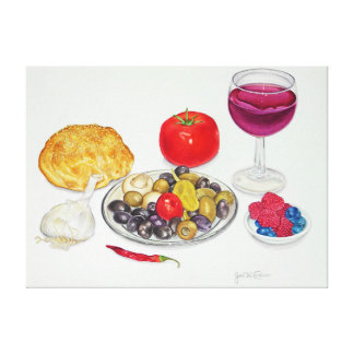 Wine and Olives Canvas Print