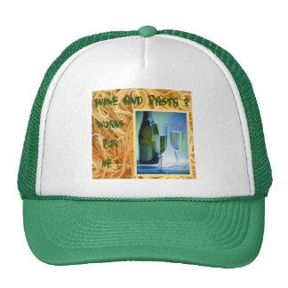 Wine and Pasta Cap Trucker Hat
