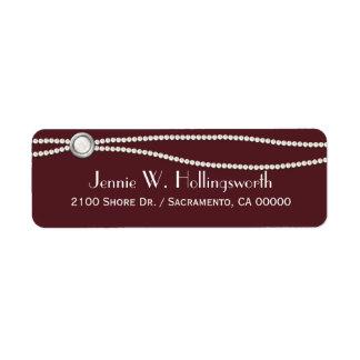 Wine and Pearls Custom Return Address Return Address Label