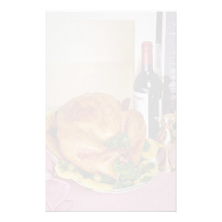 Wine and poultry feast customized stationery