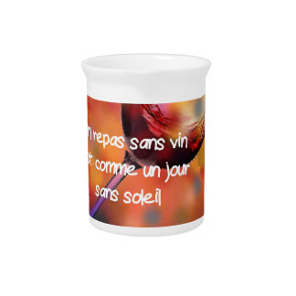 Wine and quote beverage pitcher