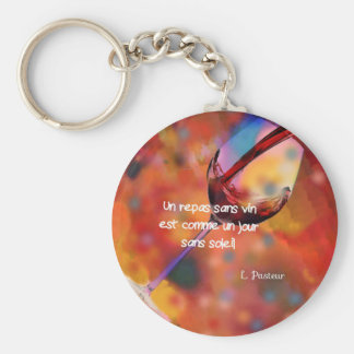 Wine and quote keychain