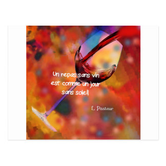 Wine and quote postcard