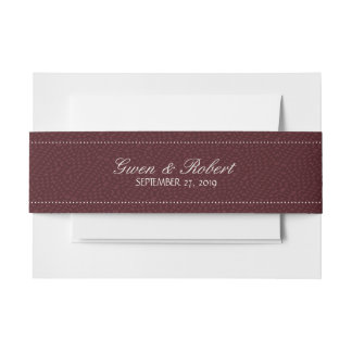 Wine and Romance Burgundy Names and Date Wedding Invitation Belly Band