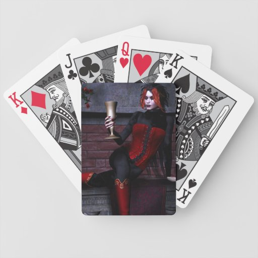 Wine and Roses Vampire Goth Bicycle® Playing Cards