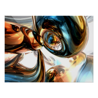 Wine and Spirits Abstract Poster