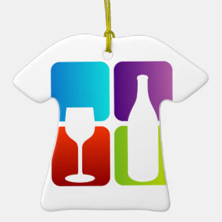 wine and spirits graphic Double-Sided T-Shirt ceramic christmas ornament
