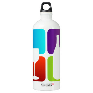 wine and spirits graphic water bottle
