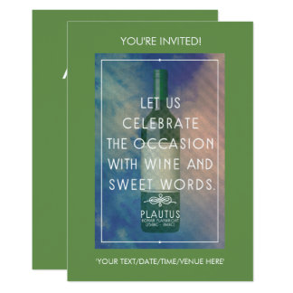 Wine and sweet words - Wine party invitation
