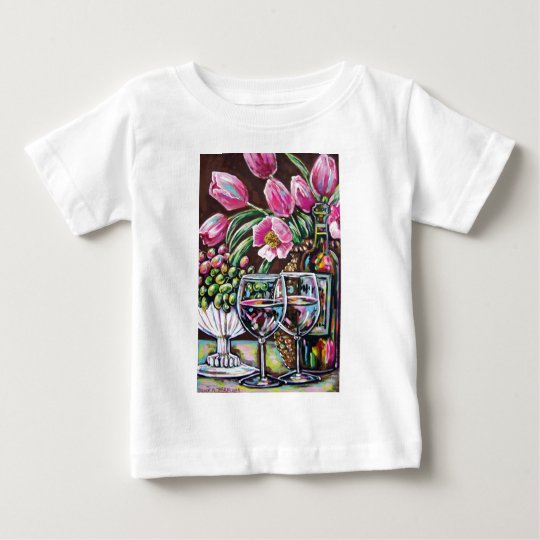 wine and tulips baby T-Shirt