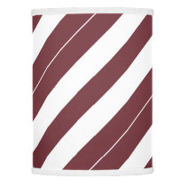 Wine and White Diagonally-Striped Lamp Shade