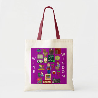 WIne and wisdom Tote Bag